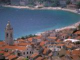 Town View from Castelo, Riviera Di Ponente, Noli, Liguria, Portofino, Italy Photographic Print by Walter Bibikow