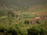 Tuscan Villa View, Radda in Chianti, II Chianti, Tuscany, Italy Photographic Print by Walter Bibikow