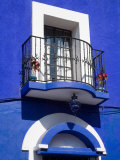 Colorful Building with Iron Balcony, Guanajuato, Mexico Photographic Print by Julie Eggers