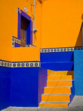 Colorful Building with Ornate Tile, Guanajuato, Mexico Photographic Print by Julie Eggers