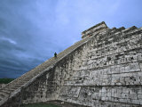 Chichen Itza Castle, El Castillo de Chichen Itza, Mexico Photographic Print by Charles Sleicher