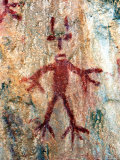 Ancient Sacred Mayan Paintings at Metzabok, Selva Lacandona, Metzabok, Chiapas, Mexico Photographic Print by Russell Gordon