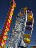 Pacific Park Ferris Wheel, Santa Monica Pier, Los Angeles, California, USA Photographic Print by Walter Bibikow
