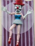 Ballerina Clown, Venice, Los Angeles, California, USA Photographic Print by Walter Bibikow
