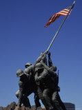 Marine Monument to Iwo Jima, Washington DC, USA Fotoprint van Bill Bachmann
