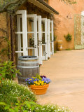 Patio Table at Viansa Winery, Sonoma Valley, California, USA Photographic Print by Julie Eggers