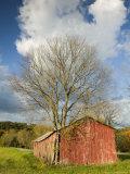 Farm and Barn, Missouri River Valley, Matson, Missouri, USA Photographic Print by Walter Bibikow