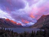 Sunrise over Wild Goose Island, Glacier National Park, Montana, USA Photographic Print by Chuck Haney