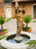Statue of Goddess at Viansa Winery, Sonoma Valley, California, USA Photographic Print by Julie Eggers