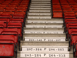 Many Steps with Numbers and Rows of Red Stadium Seats Photographic Print