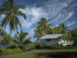 House at Kalahu Point near Hana, Maui, Hawaii, USA Photographic Print by Bruce Behnke