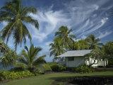 House at Kalahu Point near Hana, Maui, Hawaii, USA Photographic Print by Bruce Behnke