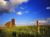 Old Church at Dooley Ghost Town Site, Montana, USA Stampa fotografica di Chuck Haney
