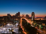 Downtown and Gateway Arch at Dawn, St. Louis, Missouri, USA Photographic Print by Walter Bibikow