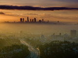 Dawn View of Downtown, Los Angeles, California, USA Photographic Print by Walter Bibikow