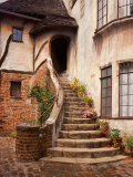 Stairs Leading into a Building, Berkeley, California, USA Photographic Print by Tom Haseltine