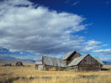 Old Ranch Outside Yellowstone National Park, Idaho, USA Photographic Print by Steve Kazlowski