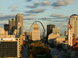 Downtown and Gateway Arch at Sunset, St. Louis, Missouri, USA Photographic Print by Walter Bibikow