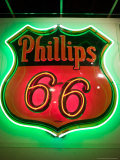 Rt.66 Museum with Phillips 66 Gas Station Sign, St. Louis, Missouri, USA Photographic Print by Walter Bibikow