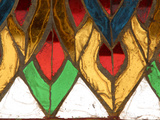 Close-up of an Intricate Colorful Stained Glass Window Photographic Print