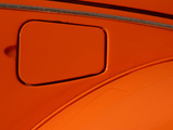 Close-up of the Gas Tank Lid on an Orange Car Photographic Print