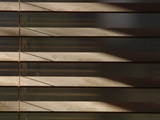 Close-up of the Brown Slats of Window Blinds Photographic Print