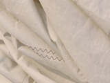 Close-up of the Wrinkled White Fabric of a Sail Photographic Print