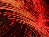 Close-up of Swirls of Bright Red Paint Photographic Print