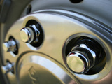 Close-up of a Chrome Hubcap Photographic Print