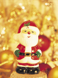 Close-up of a Santa Claus Figurine Photographic Print
