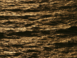 Orange Sunset Reflected on Rippling Water Photographic Print
