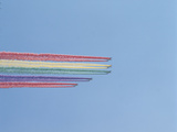Jet Planes with Colorful Rainbow Trails Photographic Print