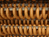 Many Sausages Hanging from Racks Photographic Print