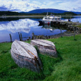 Upturned Rowing Boats Near Pier at Beagle Channel, Estancia Harberon, Argentina Photographic Print by Wes Walker