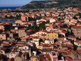 Town View, Bosa, Italy Photographic Print by Wayne Walton