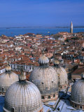 Rooftops Views from the Campanile, Venice, Veneto, Italy Photographic Print by Brent Winebrenner