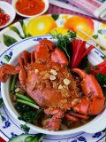 Cua Qua Hap Voi Bia Va Rua Vi (Steamed Crab in Beer and Herbs), Vietnam Photographic Print by Greg Elms