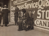 Blind Beggar, Lawton, Oklahoma, c.1917 Posters by Lewis Wickes Hine