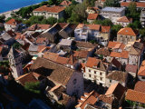 Old Town from Venetian Fortress, Omis, Croatia Photographic Print by Wayne Walton