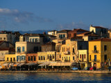 Buildings along Waterfront, Hania, Greece Photographic Print by John Elk III