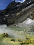 Sulfurous Geysers in the Crater of Mt. Mutnovskaya, Kamchata, Russia Photographic Print by Simon Richmond