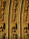 Stonemasonry of Freiburg Cathedral, Baden-Wurttemberg, Germany Photographic Print by Mark Daffey
