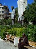 Statue of President Assad (Senior) in Bazar Square, Damascus, Syria Photographic Print by Wayne Walton
