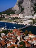 Old Town on Cetina River, Omis, Croatia Photographic Print by Wayne Walton