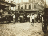 Market Scene, Boston, Massachusetts, c.1909 Foto af Lewis Wickes Hine