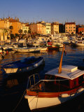 Harbour at Dusk, Rovinj, Croatia Photographic Print by Wayne Walton