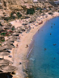 Beach at Ras Um Sid, a Popular Spot for Package Tourists, Sharm El-Sheikh, Egypt Photographic Print by Mark Daffey