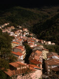Houses of Desulo in Valley, Gennargentu, Nuoro, Italy Photographic Print by Wayne Walton