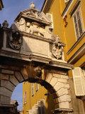 Venetian Arch in Main Square (Trg Marsala Tita), Rovinj, Croatia Photographic Print by Wayne Walton