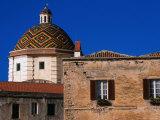 Majolica Tiled Cupola of Jesuit San Michele, Sassari, Italy Photographic Print by Wayne Walton